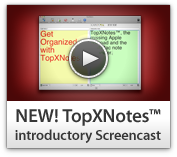 Screencast: TopXNotes Introduction
