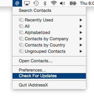 Access Contacts Directly From the macOS Menu Bar With iAddressX Image